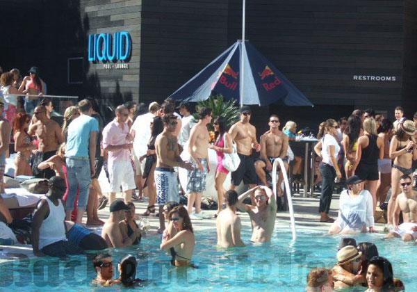 Liquid Pool Party Bachelorette Vegas